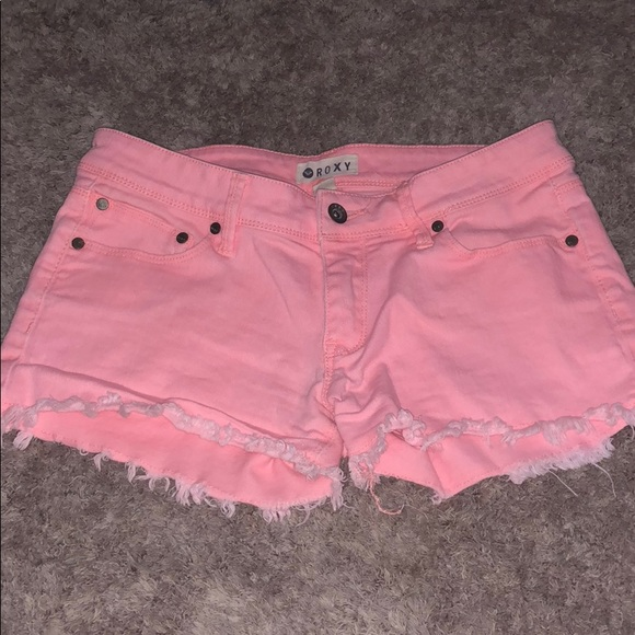 Roxy Pants - Roxy cutoff Jean shorts! Gorgeous color coral